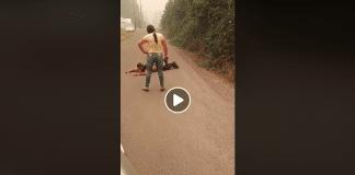 Incendies de forêt dans l'Oregon une femme attrape un pyromane présumé sous la menace d'une arme - VIDEO
