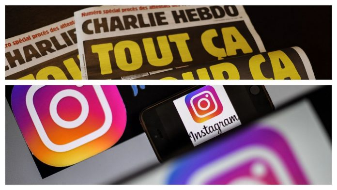 Instagram désactive des comptes de journalistes de Charlie Hebdo ayant relayés les caricatures