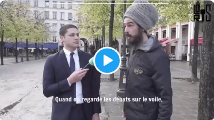 Interrogé dans la rue, un anonyme prend la défense des femmes voilées et fait le buzz -VIDEO