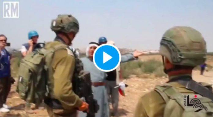 La vidéo d'un Palestinien de 64 ans sous le genou d'un soldat israélien suscite l'indignation (1)