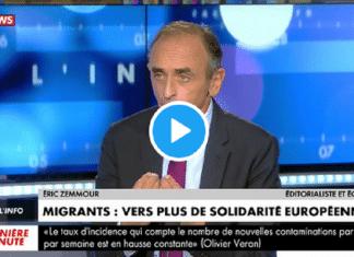 """""""L'immigration change la composition d'une peuple, il faut un référendum"""", propose Eric Zemmour"""