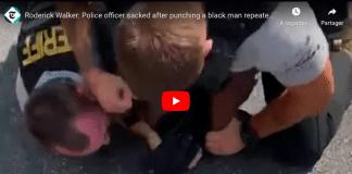 Un policier américain s'acharne sur un homme au sol et le roue de coups de poing - VIDEO