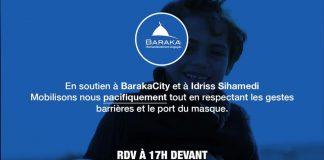 BarakaCity - Appel à la mobilisation devant le commissariat d'Evry Courcouronnes aujourd'hui à 17h