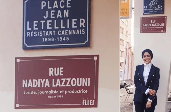 Caen : Une rue porte désormais le nom d'une femme voilée