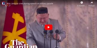 Corée du Nord Kim Jong-un pleure en présentant ses excuses à son peuple
