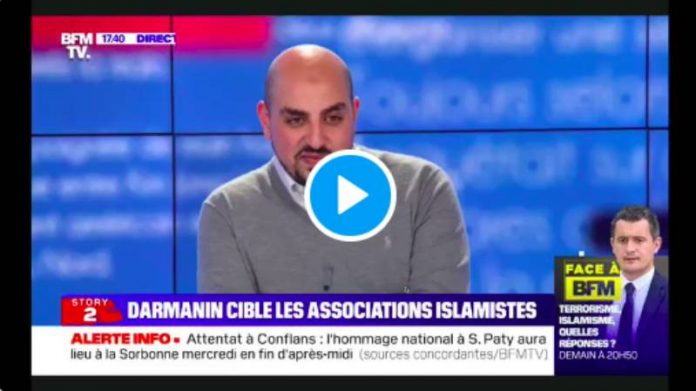 Dissolution CCIF Marwan Muhammad répond à Gérald Darmanin en direct sur BFM TV - VIDEO
