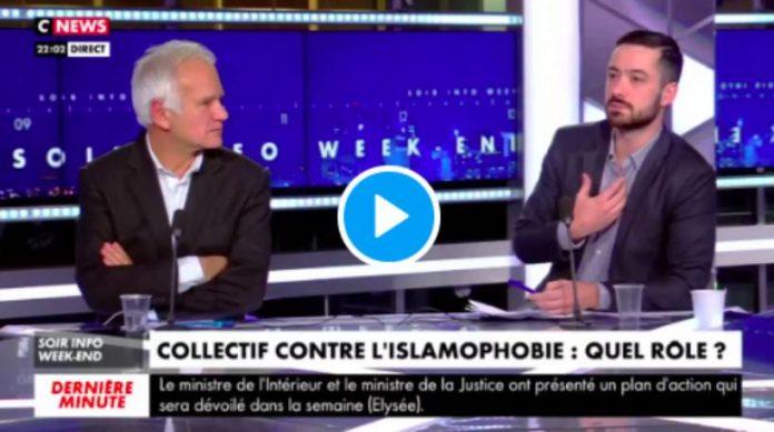 Le député David Guiraud défend le CCIF en direct sur le plateau de CNews - VIDEO