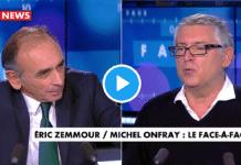 """""""Les musulmans nous donnent une leçon et ils ont raison"""" déclare Michel Onfray"""