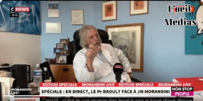 Lors d'une interview, Didier Raoult s'énerve :