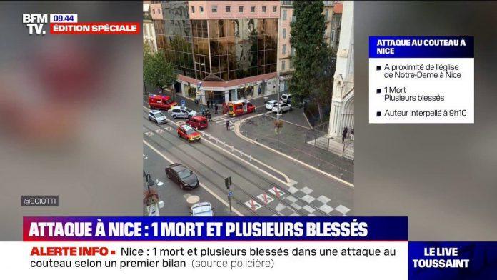 Nice - une attaque au couteau fait un mort et plusieurs blessés