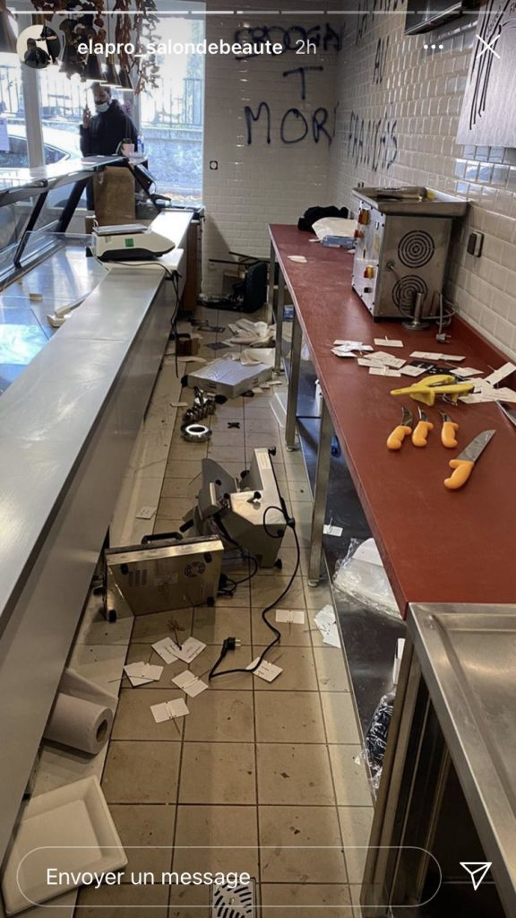 «Vive le Porc» - une boucherie musulmane violemment vandalisée à Nantes4