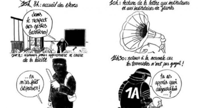 Charlie Hebdo se moque de l'hommage à Samuel Paty
