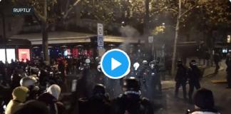 Le journaliste Filippo Ortona violemment taclé par un policier