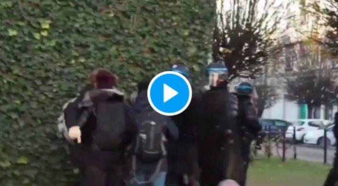 Lille des jeunes filles malmenées puis gazées par des policiers - VIDEO