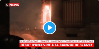 Manifestations à Paris : la Banque de France en flammes - VIDEO