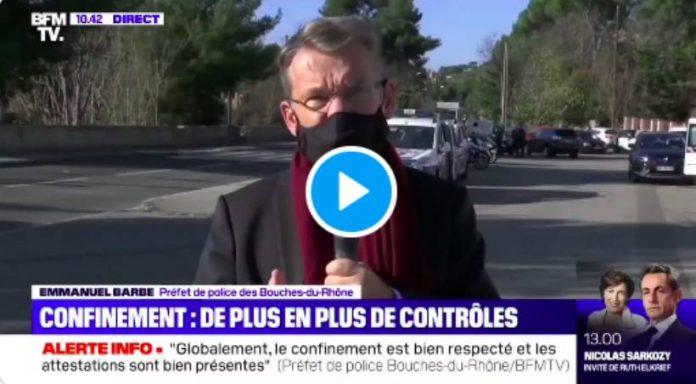 Marseille le Préfet de police s'étonne que «les vendeurs de drogues» n'aient pas d'attestation - VIDEO