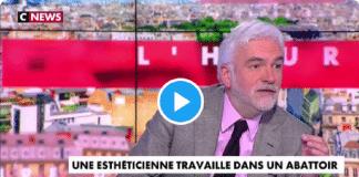 Pascal Praud pris d'un fou rire concernant une esthéticienne devenue employée d'un abattoir