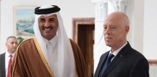 Qatar - l'émir Tamim Al-Thani reçoit le président tunisien Kaïs Saïed