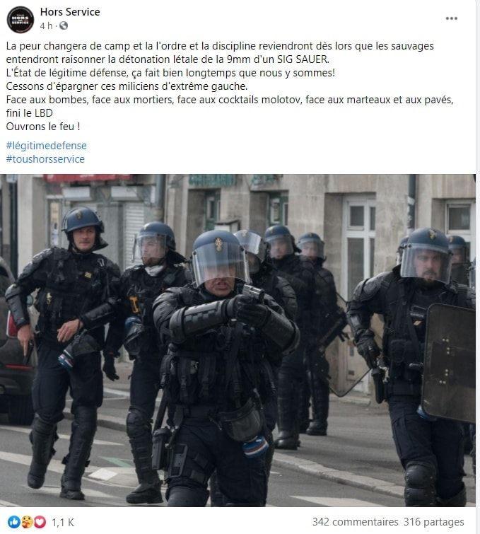 «Ouvrons le feu !» - des policiers appellent à tuer les manifestants qualifiés de «sauvages»