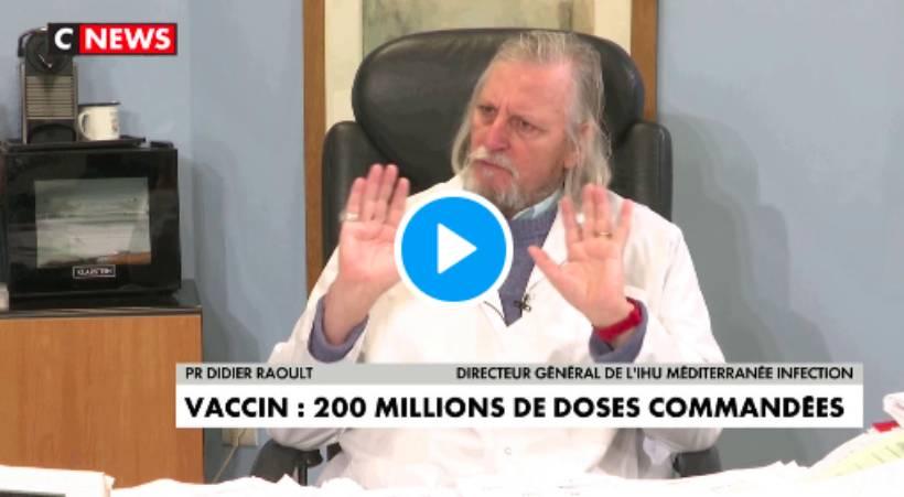Didier Raoult critique les vaccins contre le Coronavirus