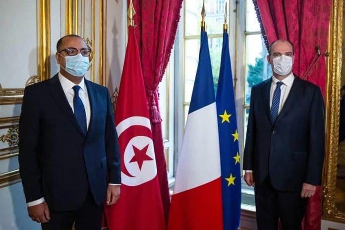 Jean Castex reçoit le Premier ministre tunisien, Hichem Mechichi