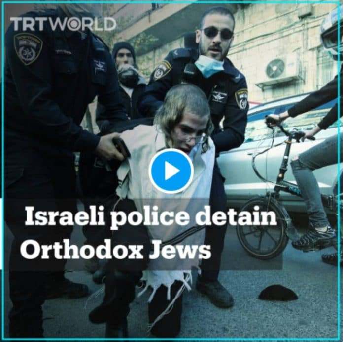 _La police israélienne tabasse et arrête des juifs orthodoxes qui protestencontre Israël - VIDEO