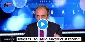 """Michel Zecler violemment frappé : Eric Zemmour défend les policiers, """"trois pauvres garçons"""""""