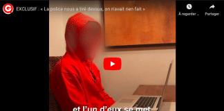 Paris un des jeunes innocents braqués par la police témoigne - VIDEO