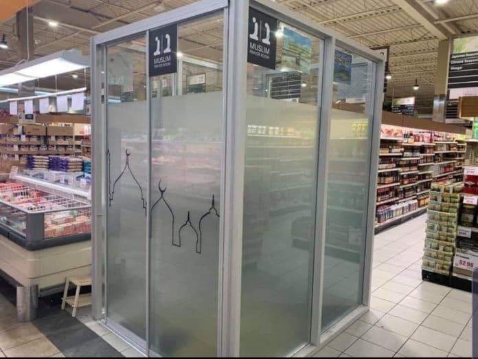 Toronto - un supermarché aménage un lieu de prière destiné aux clients musulmans