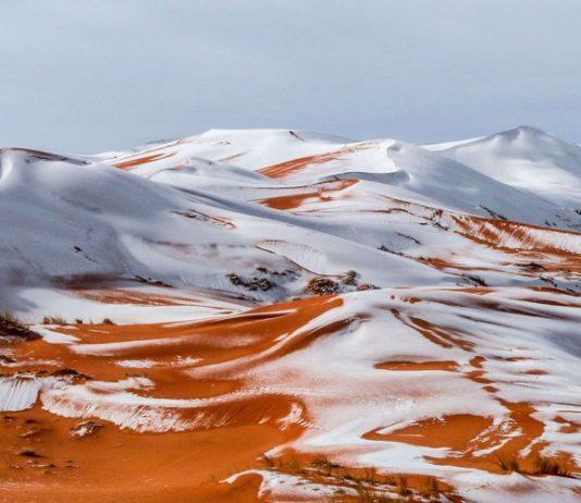 Algérie - des photos du Sahara sous la neige font le tour du monde2