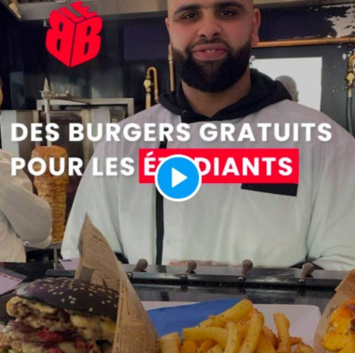 Brahim restaurateur à Mantes-la-Jolie offre des repas à tous les étudiants - VIDEO