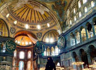 _L'actrice pornographique Lisa Ann a posé dans la mosquée Hagia Sophia en Turquie