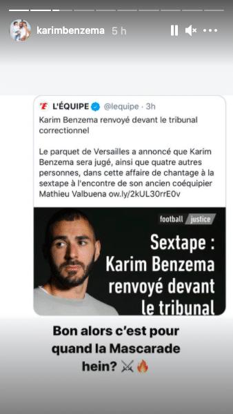 Sextape Karim Benzema dénonce «une mascarade» dans le procès qui l'oppose à Mathieu Valbuena2