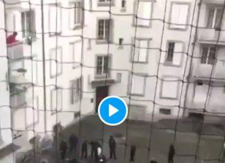 Strasbourg règlement de compte entres bandes rivales armées en plein jour - VIDEO