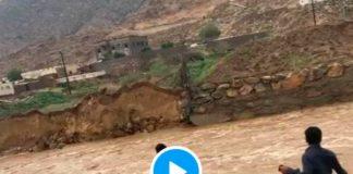 Un saoudien héroïque sauve un enfant emporté par un puissant torrent - VIDEO (1)