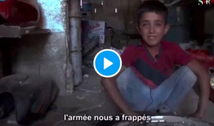 « Mon frère et mon grand-père ont été tués devant moi » le témoignage déchirant d'un enfant syrien en larmes - VIDEO