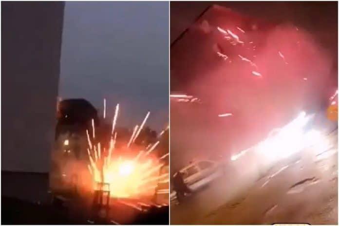 Carcassonne - des individus filment les préparatifs d'une attaque au mortier contre des policiers - VIDEO