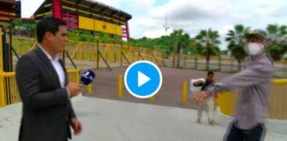 Equateur un animateur de télévision se fait braquer devant les caméras - VIDEO