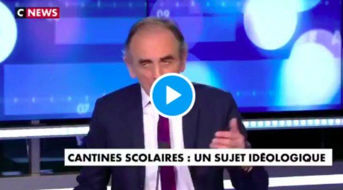 Eric Zemmour «A la cantine, il y a des tables de musulmans et des tables d'impurs» - VIDEO