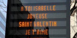 Levallois-Perret Patrick Balkany utilise l'affichage municipal pour déclarer sa flamme à sa femme