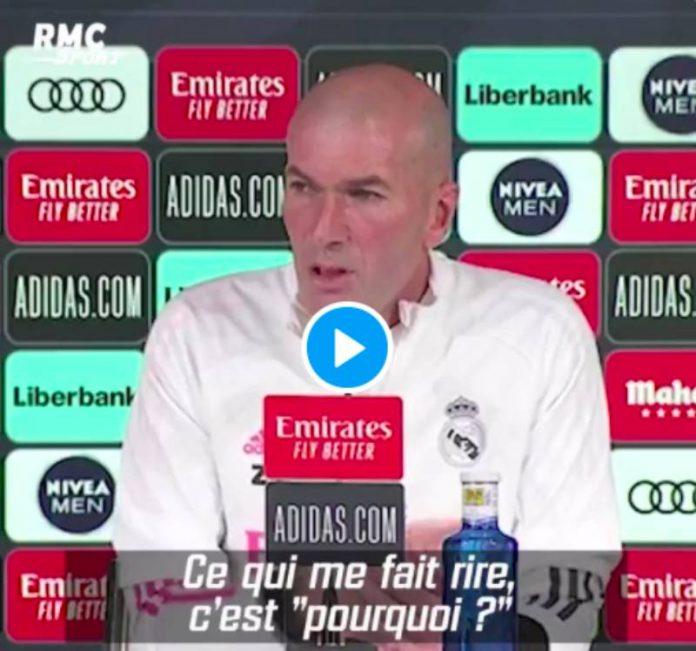Real Madrid la grosse colère de Zinedine Zidane face à un journaliste - VIDEO