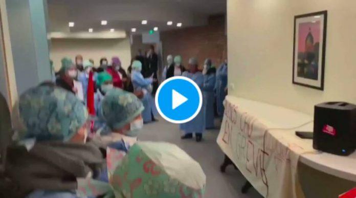 Toulouse des soignants organisent une rave party dans les couloirs pour faire sortir le directeur de l'hôpital - VIDEO