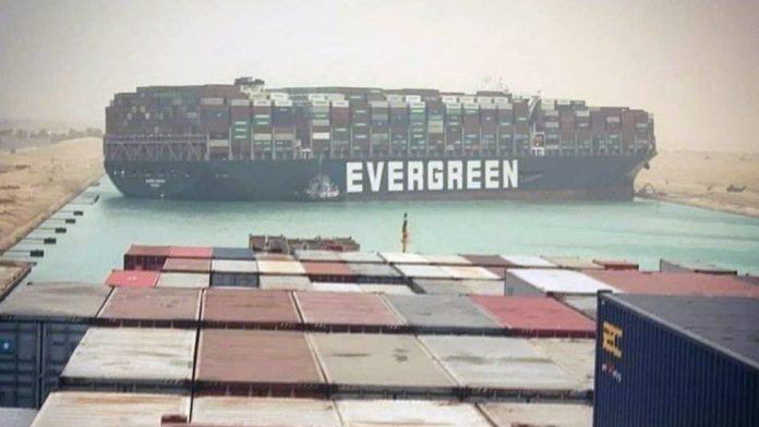 Egypte - le canal de Suez bloqué par un énorme porte-conteneur