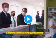 Hôpital de Poissy Emmanuel Macron humilié par des soignants qui lui tournent le dos - VIDEO