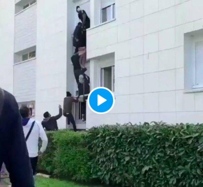 Nantes Kenza, Ismael et Sakoumba sauvent une mère et son bébé d'un incendie - VIDEO (1)