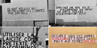 « Occupez vous des violeurs, et foutez la paix aux femmes voilées » Les colleuses marseillaises soutiennent les musulmanes