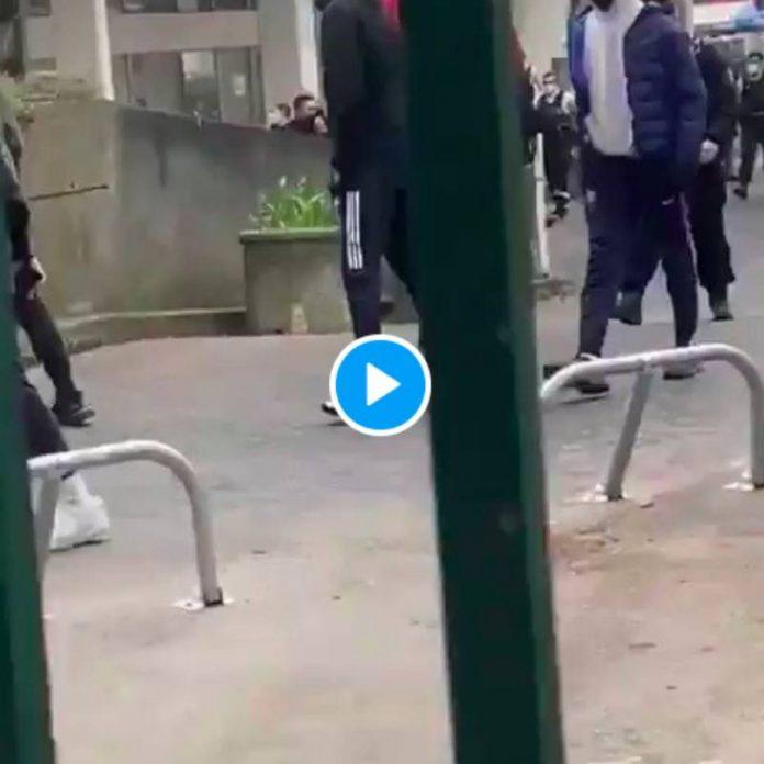 «Pourquoi vous nous gazez ? On est venu le nettoyer le quartier la police insulte et menace des jeunes - VIDEO