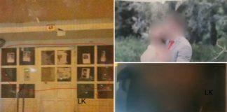 Epinay-sur-Seine des noms et photos de mariage de policiers affichés dans un hall d'immeuble