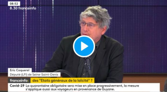 Eric Coquerel «Le gouvernement fait de la laïcité une arme contre l'islam» - VIDEO