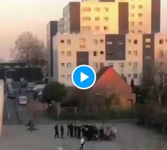 Lille des policiers gazent et brutalisent des mères avec leurs enfants - VIDEO